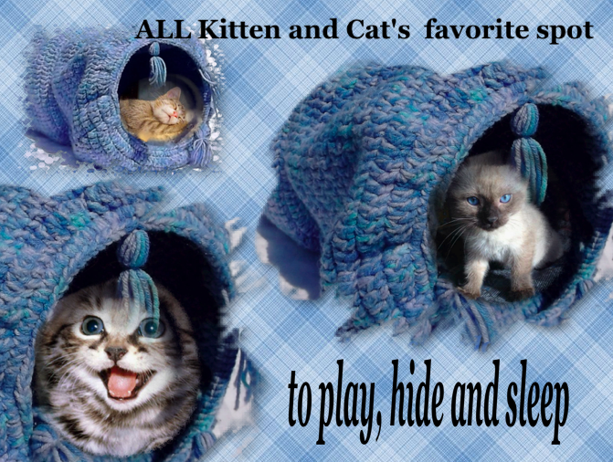 Crochet Pattern Diy For Cat Toy Play Tunnel On Storenvy