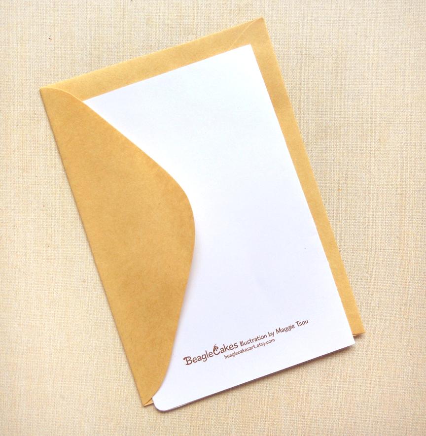 Afternoon Tea Time Invitation 4x6 Notecard Cute Tea Party