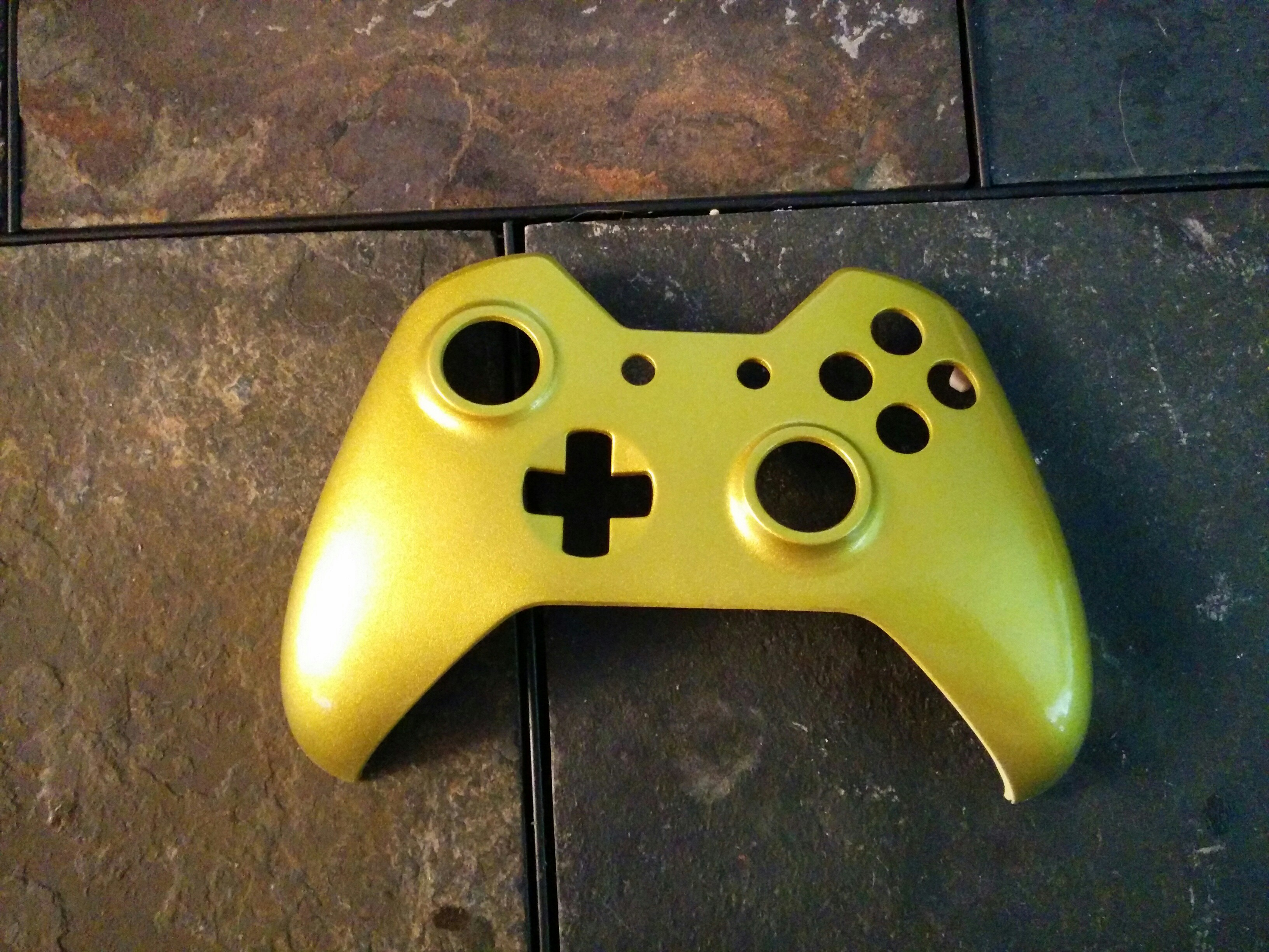 Gold Xbox One Controller Faceplate sold by Loudmouth Controllers