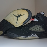 competitive price c3cf2 9d863 ... Air Jordan 5 (V) 2007 Retro Black   Metallic Silver- Red 23 -