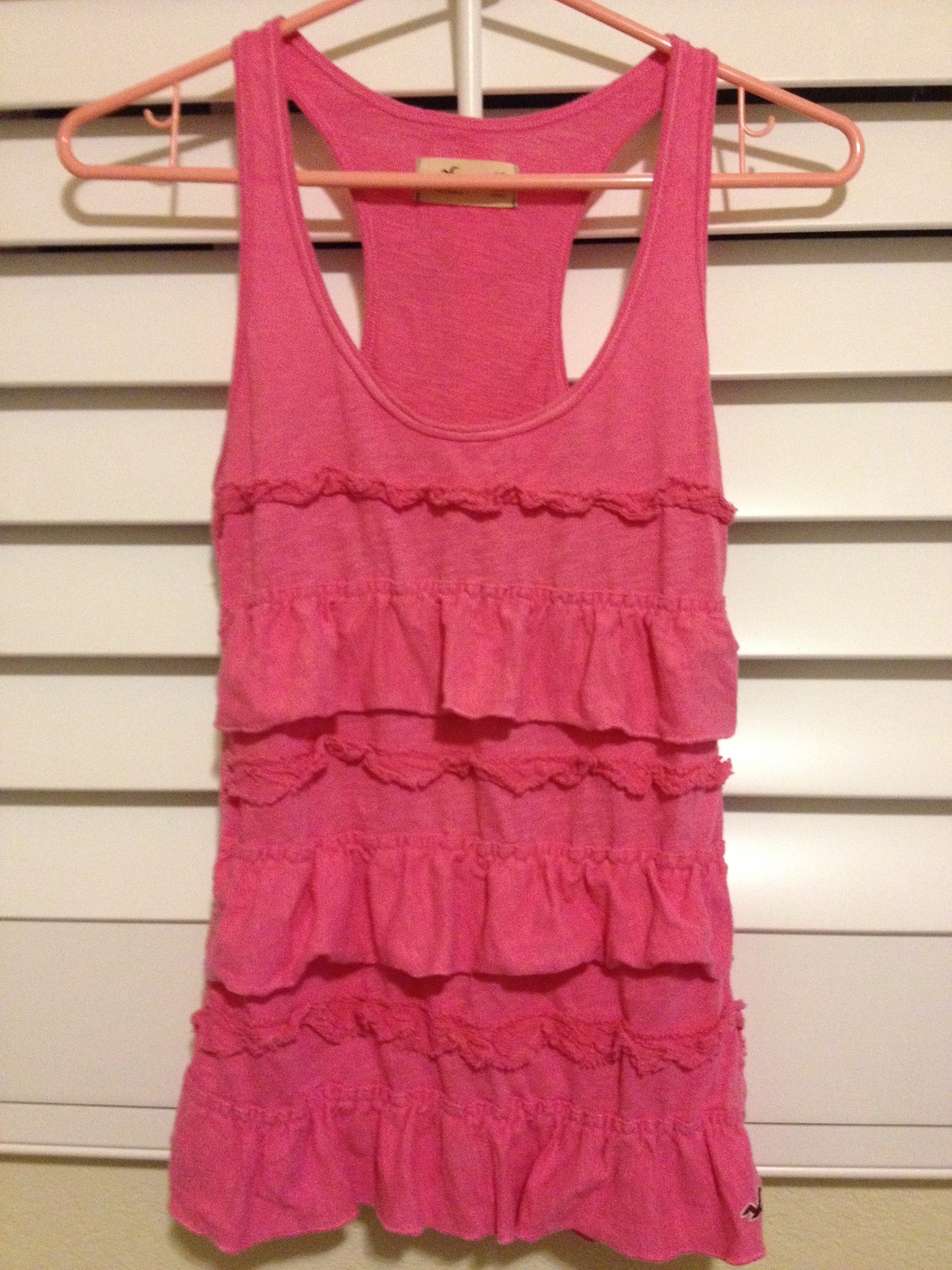 4af0c8416a9ace Hot Pink Hollister Ruffle Tank Top · Berry Rosy · Online Store ...
