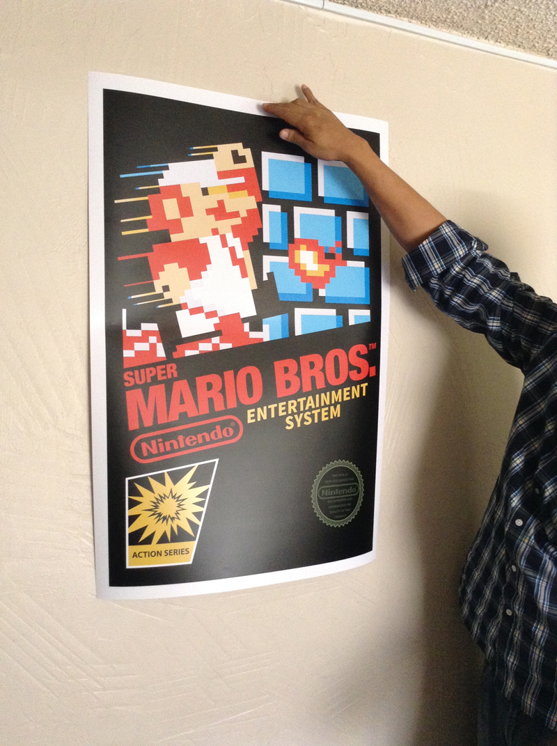 Super Mario Bros Nes Cover Poster Sold By Geekyprints On Storenvy