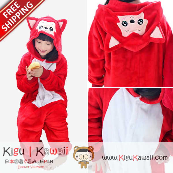 New Ali Red Costume Character Kids Kigurumi Onesie KK264 Free Ship from  Kigu Kawaii Shop