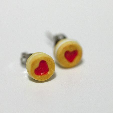 df266b8eb36a47 ... Kawaii Cute Miniature Food Earrings - Strawberry Jam Cookies -  Thumbnail 4