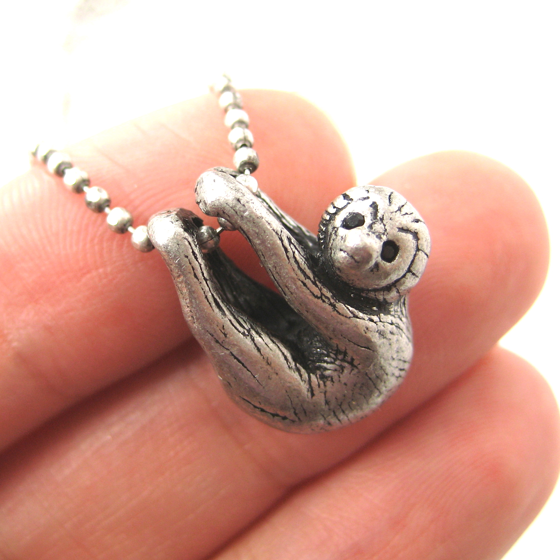 in storenvy sloth img pendant animal silver on original products necklace baby realistic charm