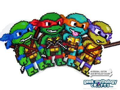 Teenage Mutant Ninja Turtles Perler Bead Sprite Figure