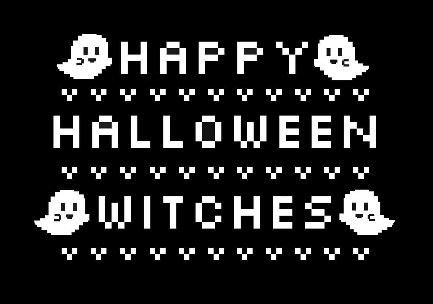 happy halloween witches 8 bit sweatshirt thumbnail 1