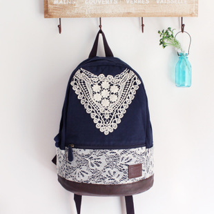 ca70d4df23 Fashion Crochet Lace Canvas Backpack for Women on Storenvy