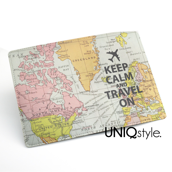 Keep calm and travel on passport holder case travel wallet pu passboard key l71 lwith 20 logo open original gumiabroncs Images