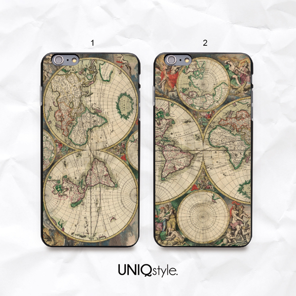 Iphone 6 World Map Case.Vintage Old World Map Phone Case For Iphone 7 6 6s Samsung S8 S7 S6