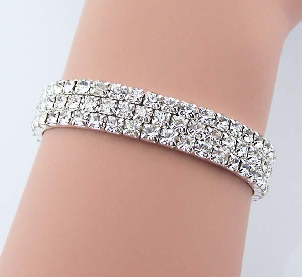 3 sets of Swarovski Artificial diamond bracelet Rhinestone jewelry ... c5592768b8