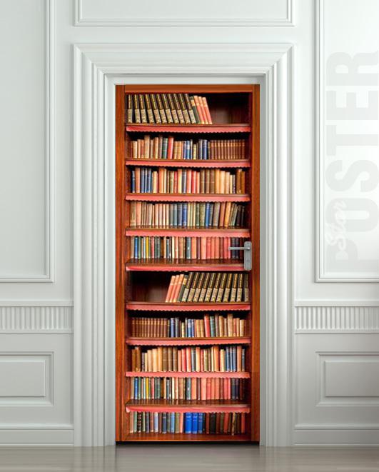 Door Wall Sticker Book Cupboard Cabinet Strapper Box