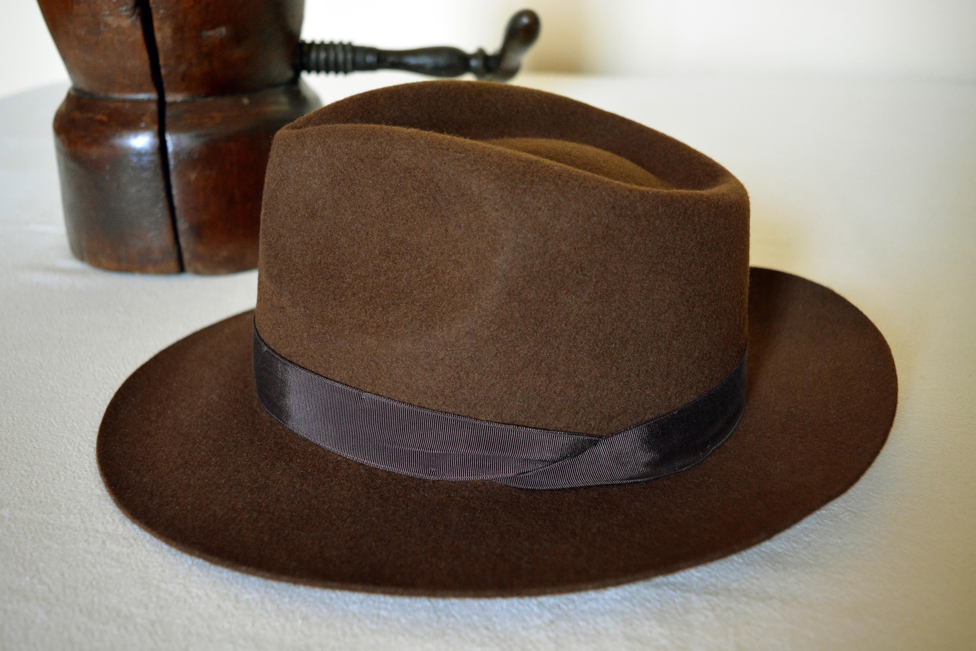 Montique Men/'s Tan Snap Brim Crushable Felt Wool Fedora Hat H10
