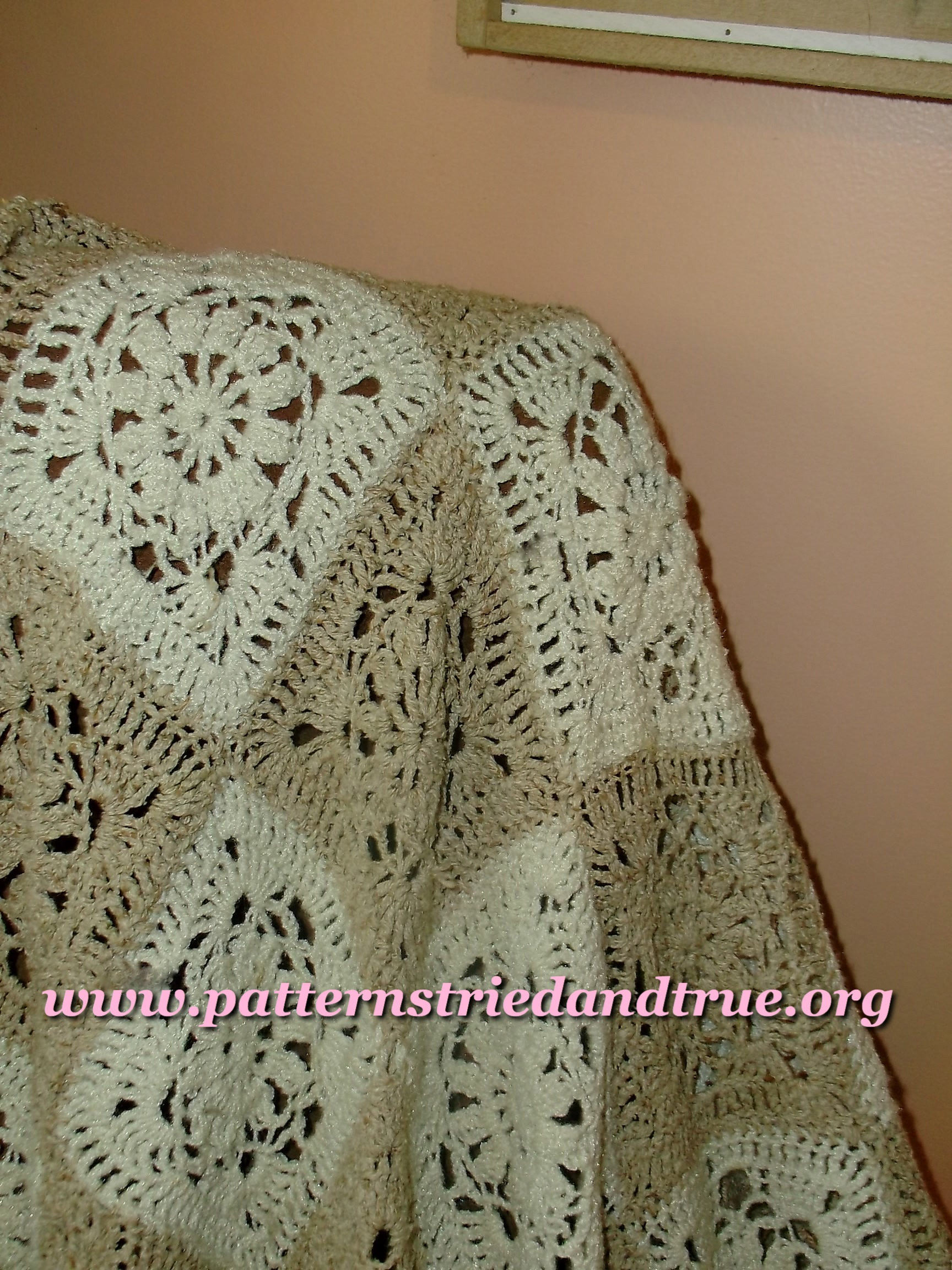 Crochet Natural Fiber Afghan Pattern, Throw, Lap Afghan, Neutral ...