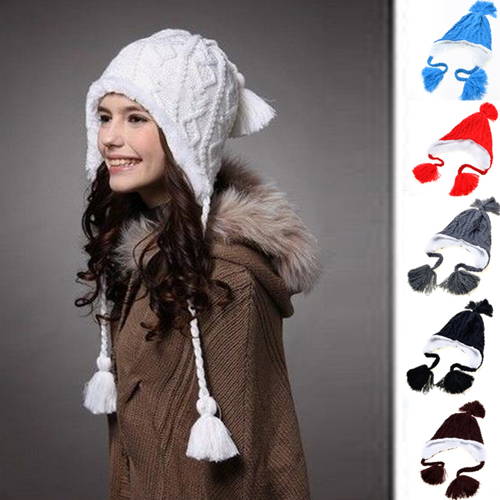 1881d32ad43 Kenmont Winter Women Caps Hats Holiday Sale Hot Selling Plush Earflap Hat  Knitted Wool Beanie Cap