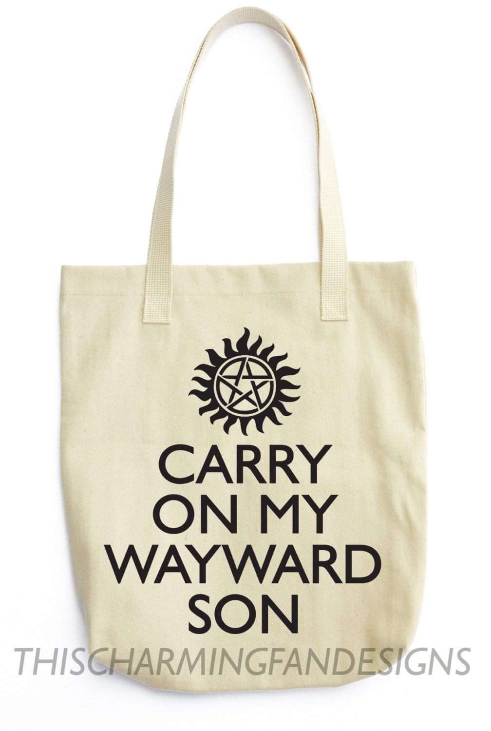 SUPERNATURAL Tote Bag UNOFFICIAL SONG 100% Cotton Winchester Brothers sold  by This Charming Fan