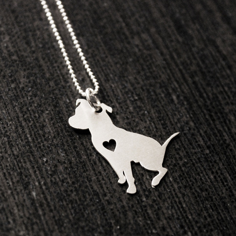 pitbull jewelry sterling silver sitting pit bull necklace on storenvy 9095