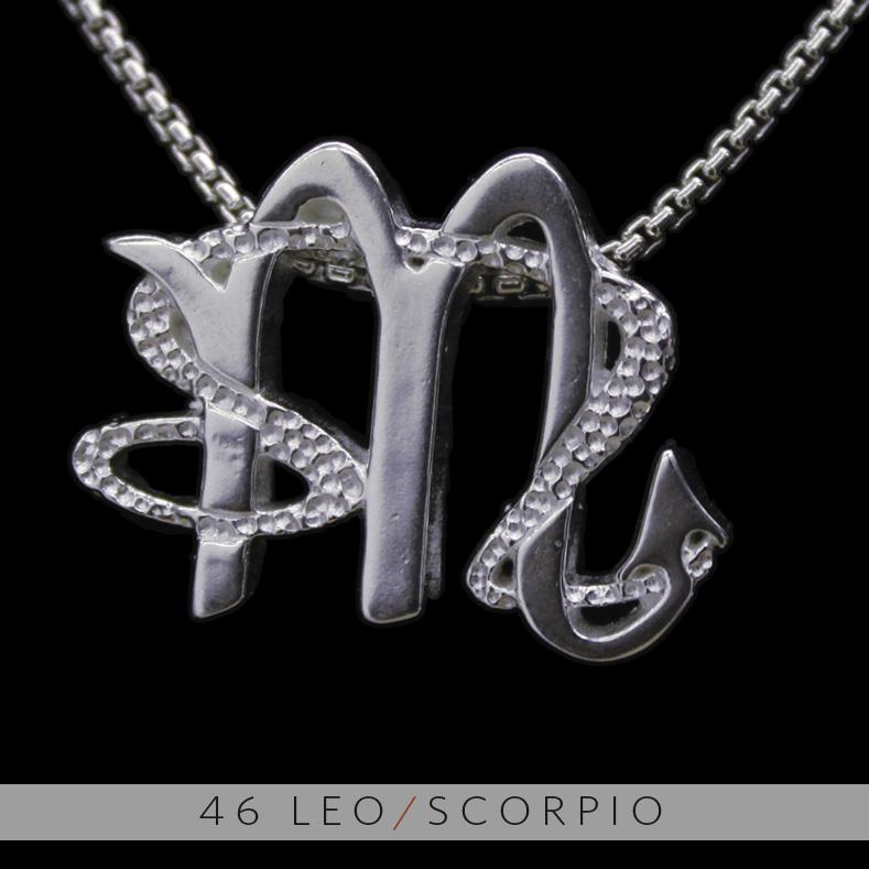 The leo and scorpio silver unity pendant on storenvy 46 20leo 20 26 20scorpio 202 original aloadofball Images