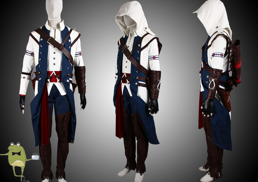 Assassin S Creed 3 Connor Cosplay Costume Outfit Sold By