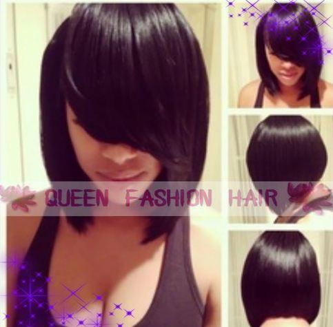12 Inch Grade 5a Peruvian Virgin Hair Bob Hairstyle Front