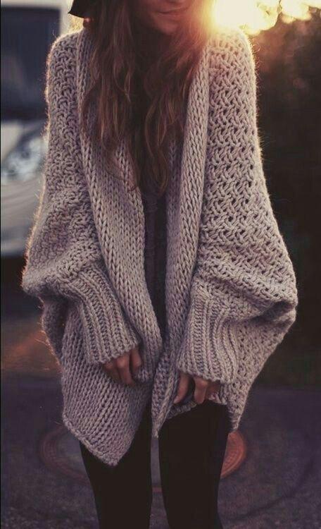 46902926 Fashion Knit Loose Long Sleeve Cardigan Jacket Coat Knitwear on ...