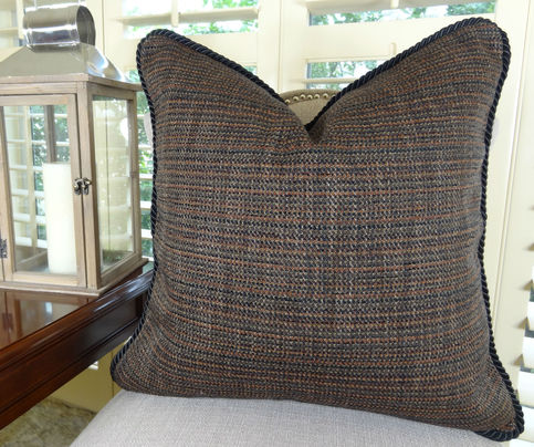 22 Quot X 22 Quot Luxury Decorative Throw Pillow Black Brown