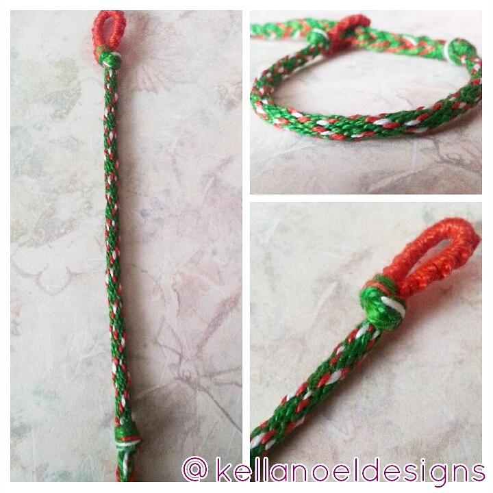 Candy Cane Holiday Kumihimo Bracelet Kella Noel Designs Online