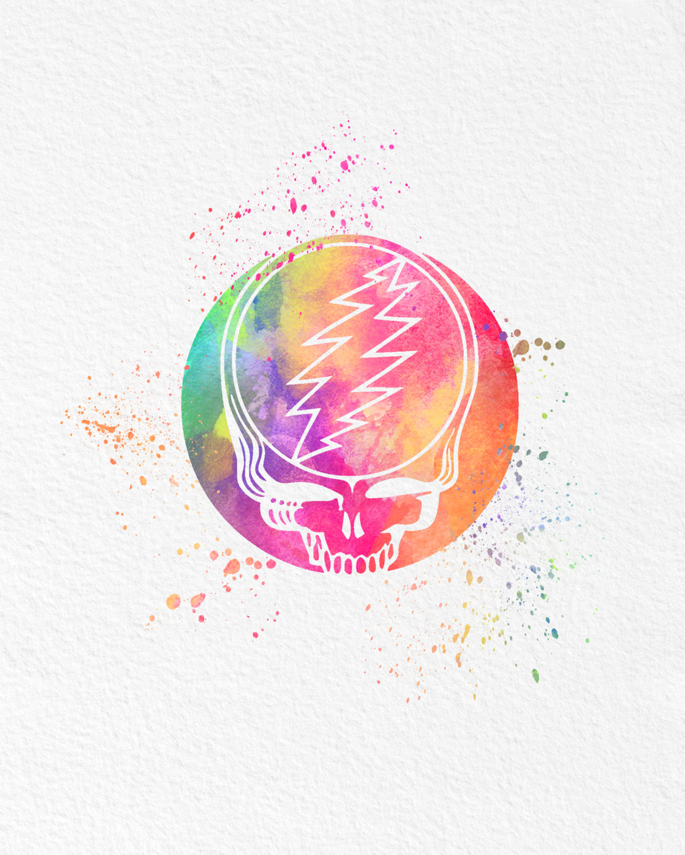 ... Watercolor Art Grateful Dead gift Modern 8x10 Wall Art Decor Steal your Face Illustration Art Wall  sc 1 st  AmourableArt - Storenvy & Watercolor Art Grateful Dead gift Modern 8x10 Wall Art Decor Steal ...