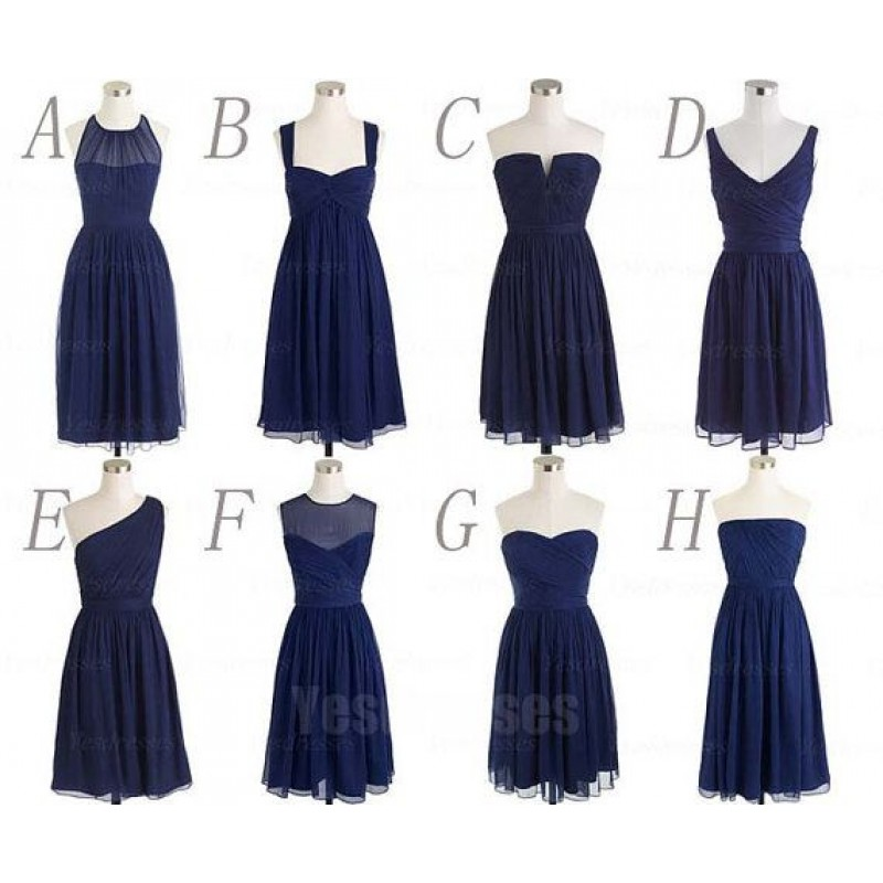 Navy Blue Bridesmaid Dresses Short Bridesmaid Dresses Mismatched Bridesmaid Dresses Cheap Bridesmaid Dresses Pd15003