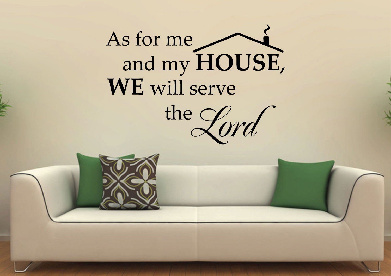 We Will Serve the Lord Vinyl Wall Art Inspirational Quotes and Saying Home decor Decal Sticker Ste Decalgeek DG-AS-1 As for Me and My House