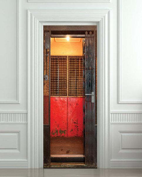 Door Sticker Elevator Lift Gate Grate Mural Decole Film