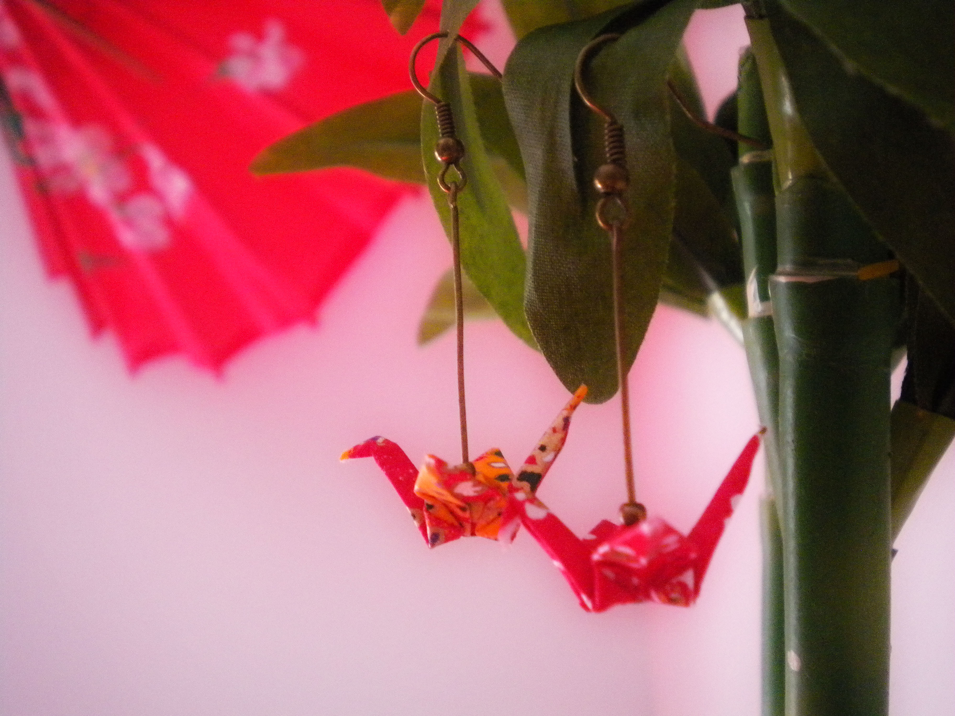 Origami Paper Crane Earrings - Japanese Themed Jewelry ... - photo#46
