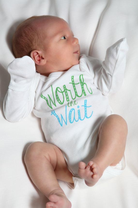 2ff61dd73 Worth the Wait Baby Boy Onesie on Storenvy