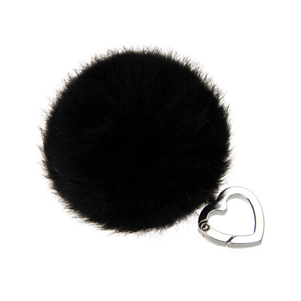 Heart Keychain Pompom Genuine Rabbit Fur Ball Keyring Women Fur ... 52a4101a0