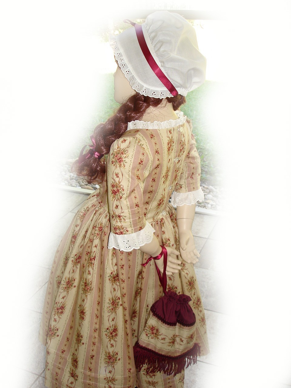 Custom Boutique American Girl FELICITY COLONIAL TRAVELING Gown Girl ...