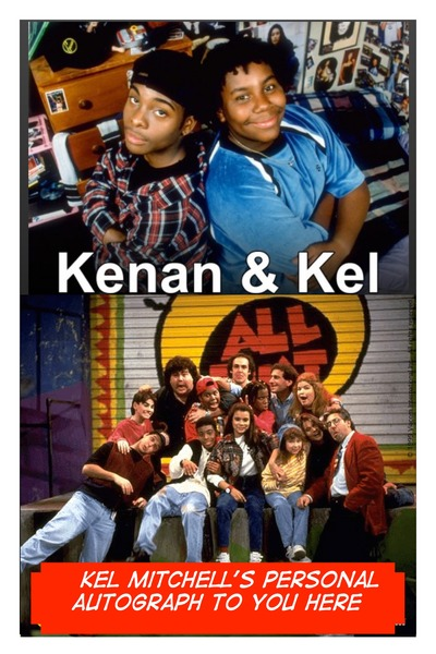 Kel Mitchell Kenan & Kel / All That Autographed Poster