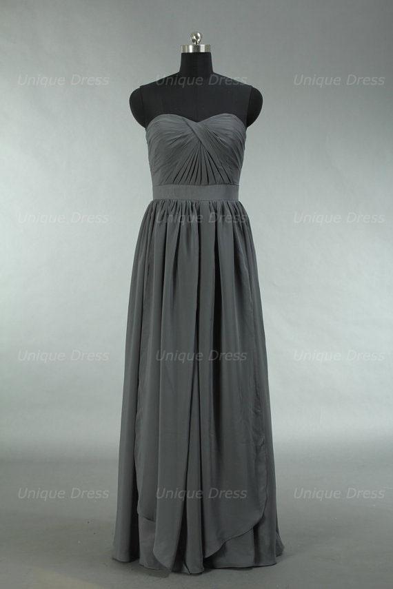 1ff81700f61 Grey Bridesmaid Dress