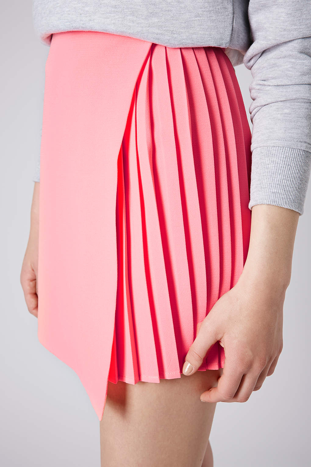 00ad1c8e48 Topshop pink asymmetric pleat wrap skirt product 1 19887913 2 561147139  normal small