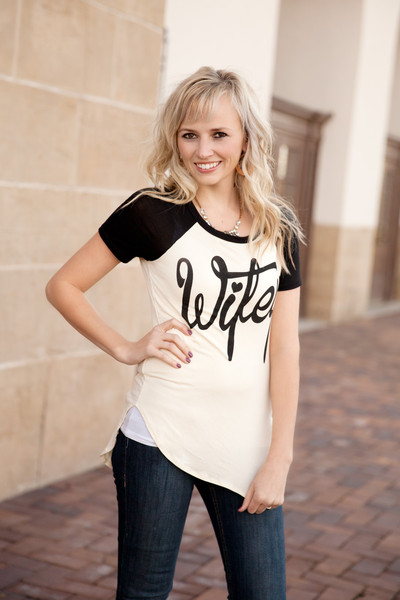 df9a2442 Wifey Baseball Tee in Black Large · Glimmerz Hope Boutique · Online ...