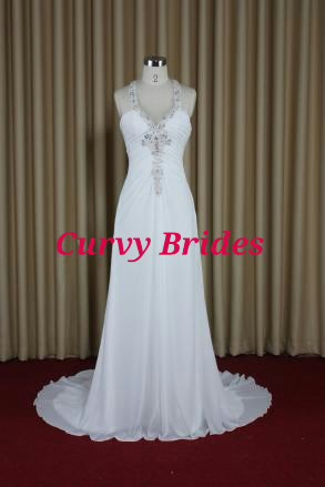 25fc3684a6 Plus Size Beach Destination Wedding Dress T Bar Back Inspired By Maggie  Sottero