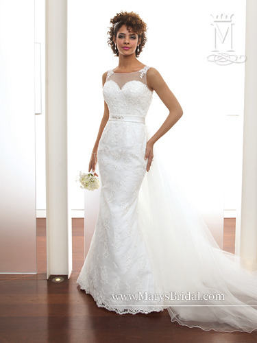 3e582a9e57fb BRIDAL GOWN BY MARY'S BRIDAL STYLE 6270 WHITE RE-EMBROIDERY TULLE SIZE 18