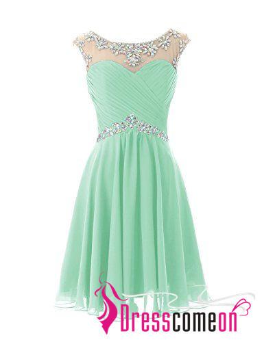 ac90f4769ca Short Prom Dresses Sexy Mint Green Homecoming Dress For Junior Birthday  Chiffon Dress