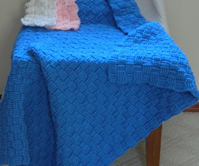 Crochet Blanket Large Basket Weave On Storenvy