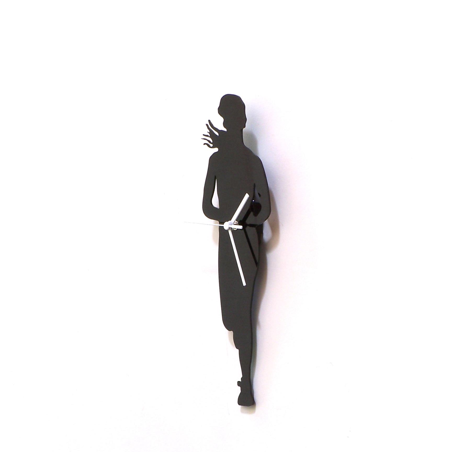 Running Woman Black Acrylic Wall Clock A Piece Of Wall Art Sport Clock Gift For Runner Silhouette Clock 183 Ardeola 183 Online Store Powered