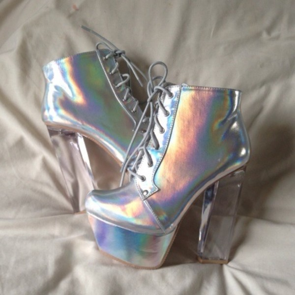 0a8f1e2ffbd QUPID hologram bootie on Storenvy