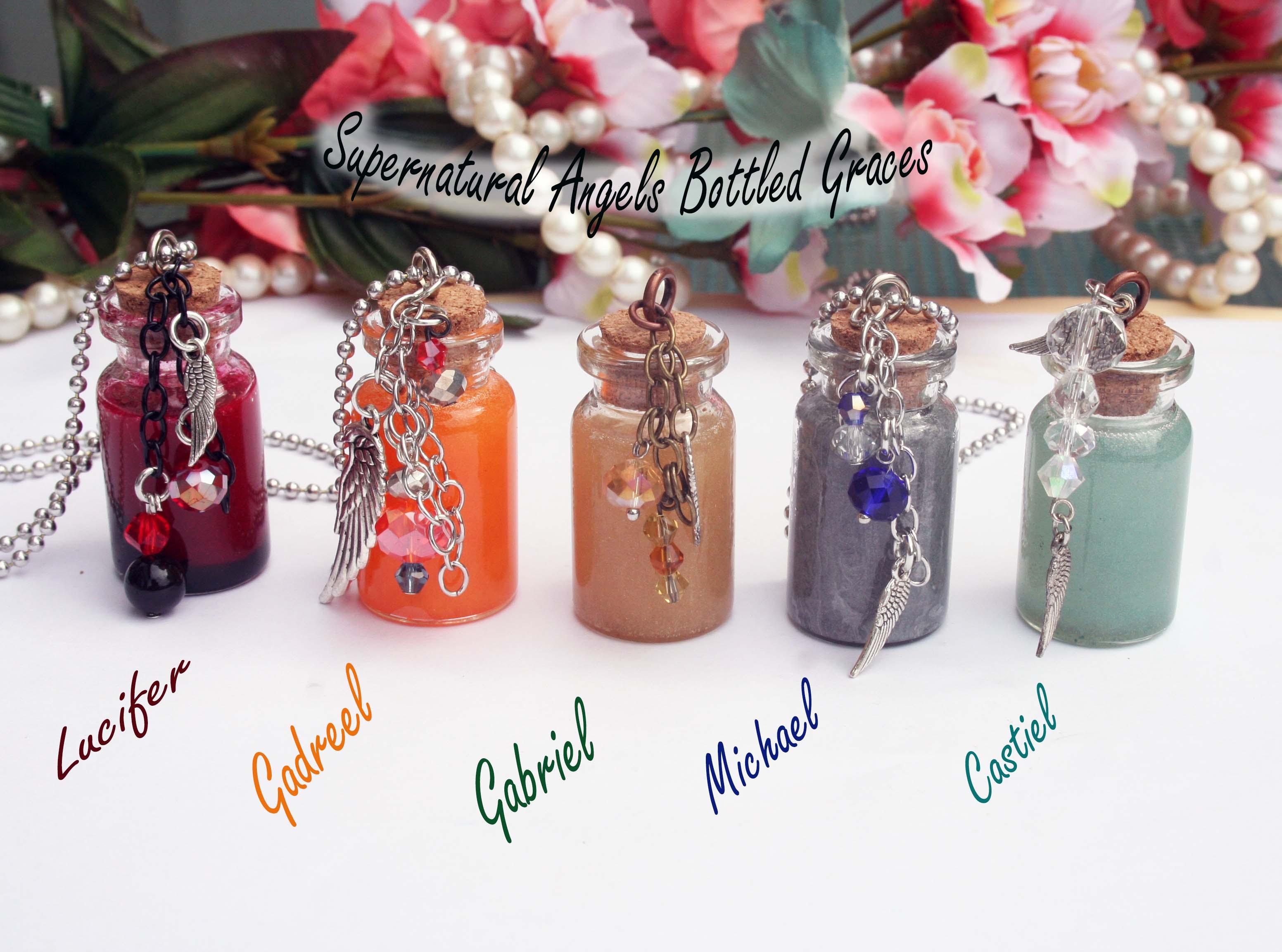 3e2f7d6be8 Supernatural Angel's Bottled Grace (pick your angel ) · Nerdy Robots ...