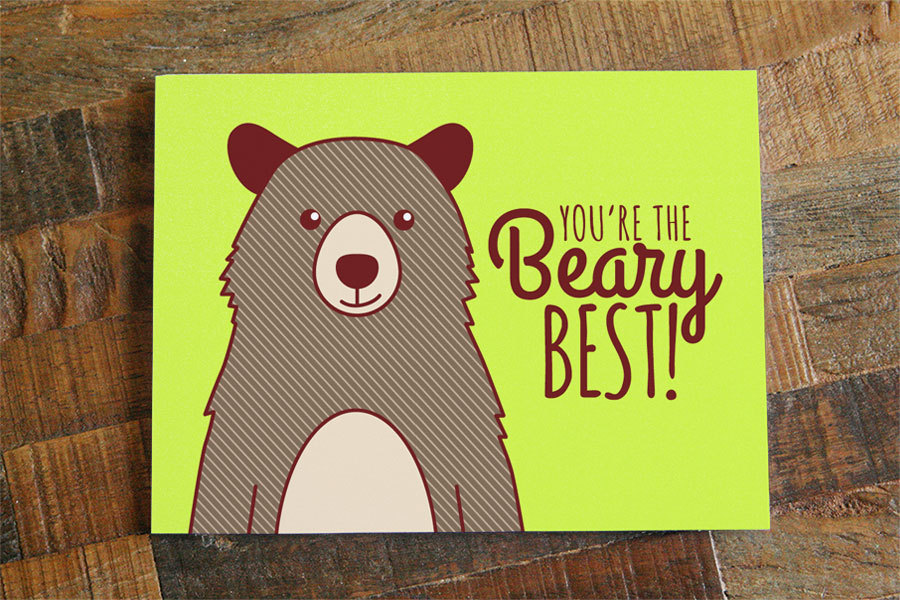 Cute Il Fullxfull786690241 Tpld Original Storenvy Friendship Or Love Card Youre The Beary Best Pun Card Bear