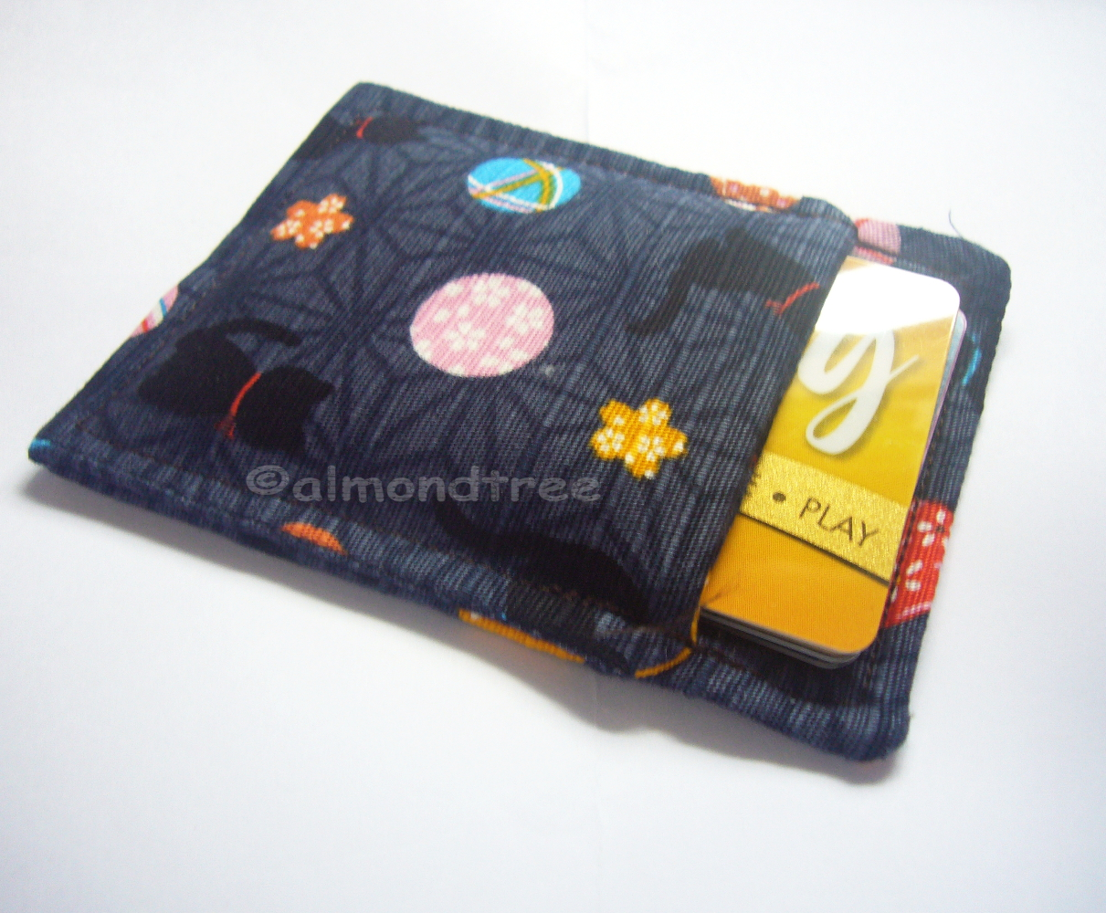 Japan Cat Grab And Go Slim Card Women Wallet Business Card Holder