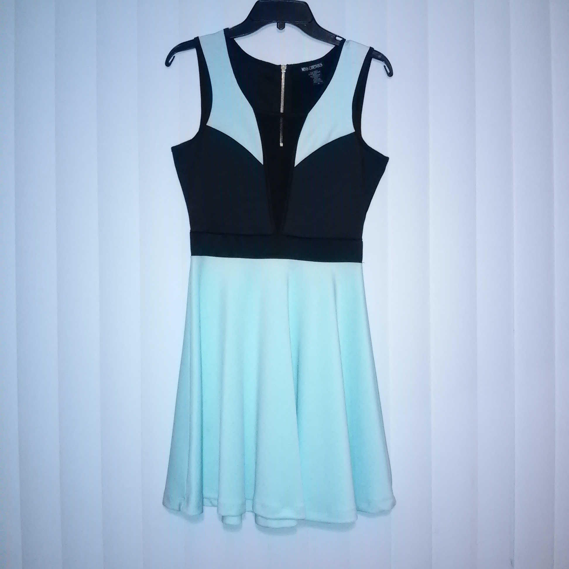 Miss Chievous Light Blue and Black Fit and Flare Dress on Storenvy 99b809760