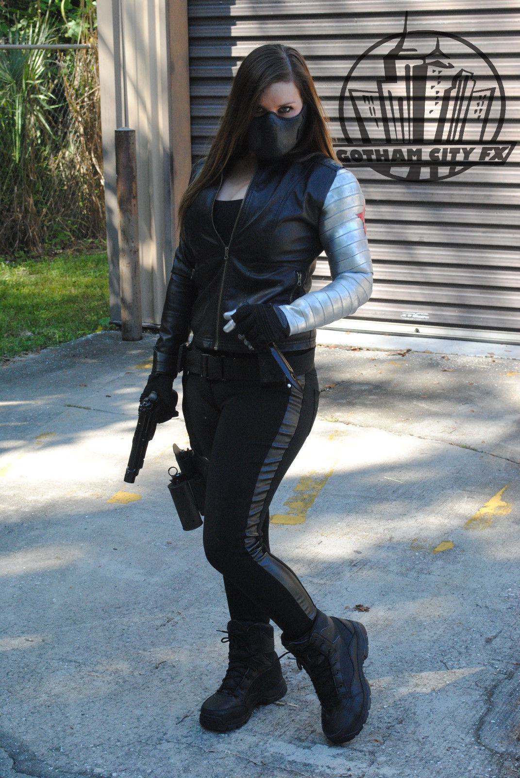 Female Captain America Bucky Barnes Winter Soldier Arm